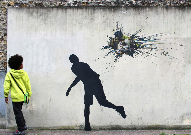 street art by pejac 21 27 Playful Diversions on the Streets of Paris