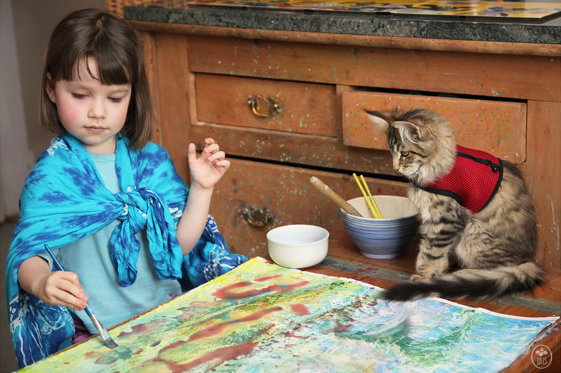 Autistic 5-Year-Old Expresses Herself Through Art (9)
