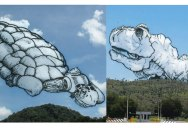Artist Takes Photos of Clouds and Draws What He Sees on Top of Them