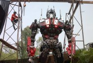 20 ft Transformers Made from Old Car Parts