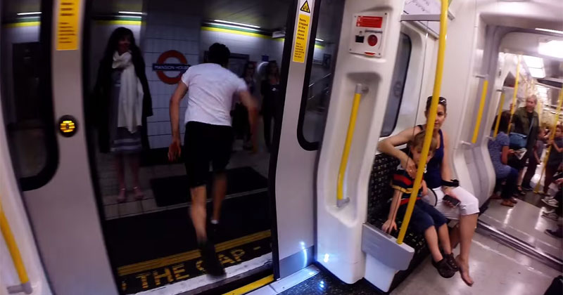 Guy Hops Off Train, Sprints to the Next Stop and Gets On Again