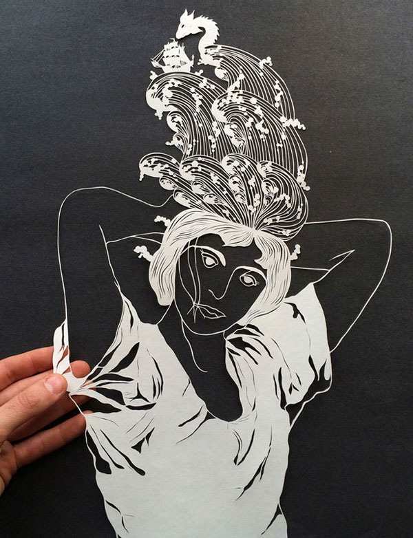 hand cut paper art by maude white 11 12 Intricate Paper Artworks Cut by Hand