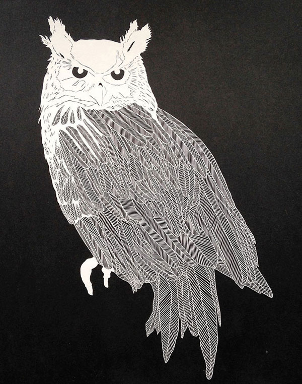 hand cut paper art by maude white 12 12 Intricate Paper Artworks Cut by Hand