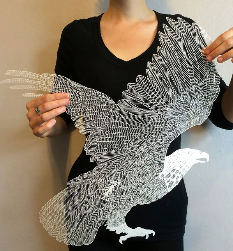 hand cut paper art by maude white 2 12 Intricate Paper Artworks Cut by Hand