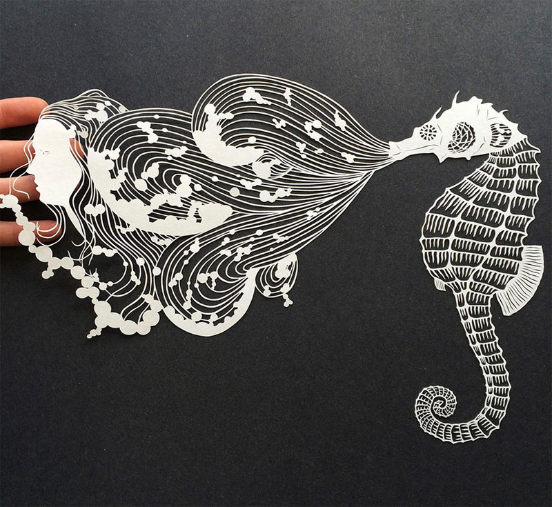 hand cut paper art by maude white 4 12 Intricate Paper Artworks Cut by Hand