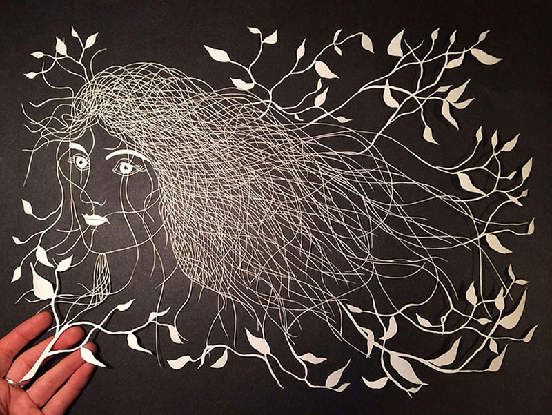 hand cut paper art by maude white 6 12 Intricate Paper Artworks Cut by Hand