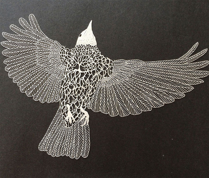 hand cut paper art by maude white 7 12 Intricate Paper Artworks Cut by Hand