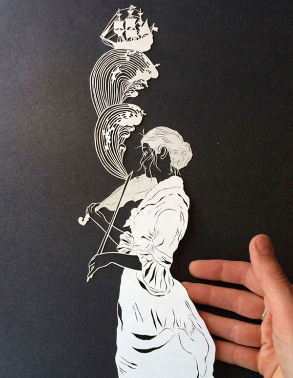 hand cut paper art by maude white 8 12 Intricate Paper Artworks Cut by Hand