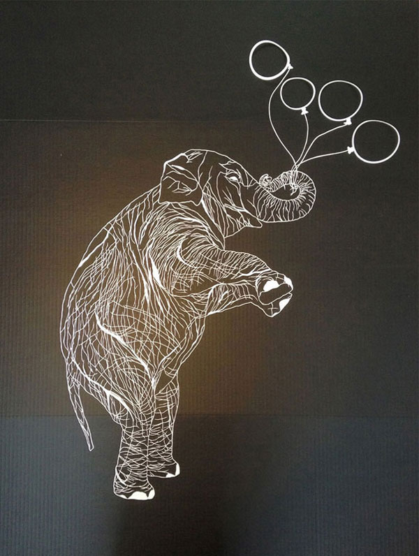 hand cut paper art by maude white 9 12 Intricate Paper Artworks Cut by Hand