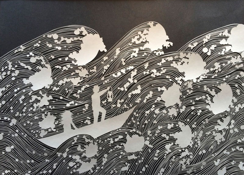 hand cut paper art by maude white 12 Intricate Paper Artworks Cut by Hand