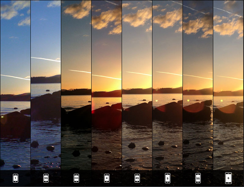 lisa bettany Takes Identical Shots with All 8 iPhone Versions (3)