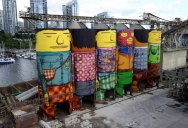 OsGemeos Complete First 360 Mural on Six Giant Concrete Silos