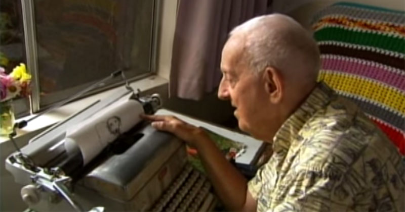 Artist with Cerebral Palsy Uses Typewriter to Paint
