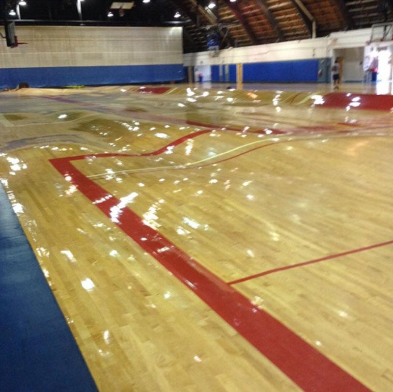 pipes burst under basketball court wobbly floor So the Pipes Underneath this Basketball Court Just Burst