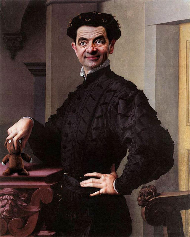 rodney pike photoshop mr bean into famous paintings (1)