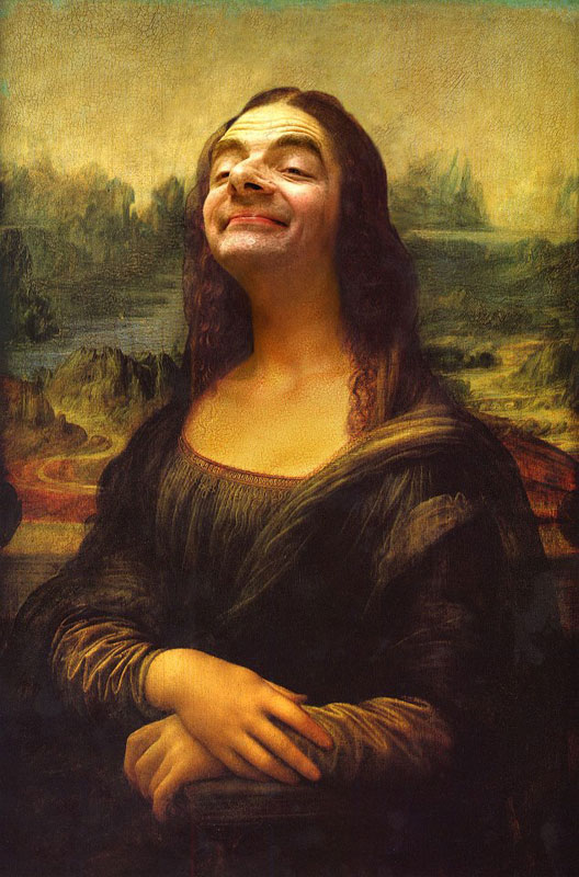 rodney pike photoshop mr bean into famous paintings (13)