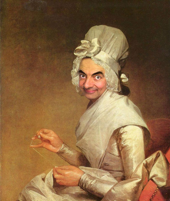 rodney pike photoshop mr bean into famous paintings (4)