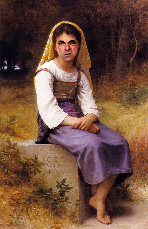 rodney pike photoshop mr bean into famous paintings (7)