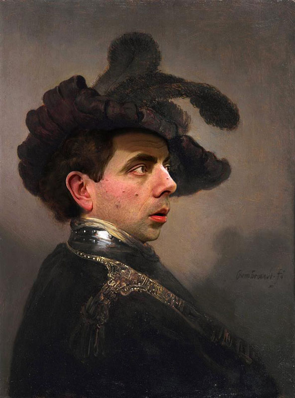 rodney pike photoshop mr bean into famous paintings (9)