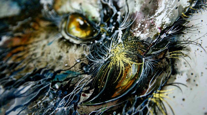 splatter ink animal portraits by hua tunan (2)