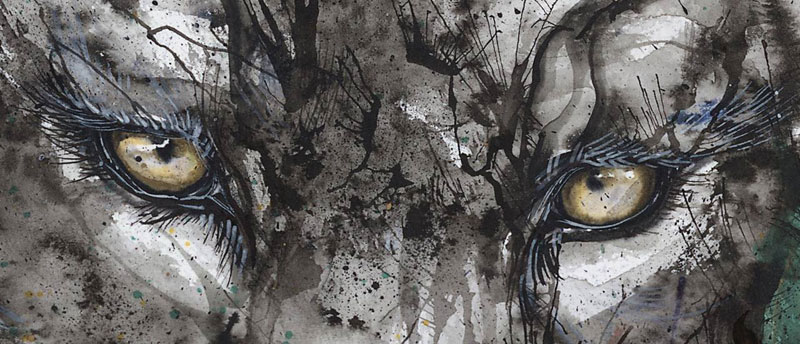 splatter ink animal portraits by hua tunan (5)