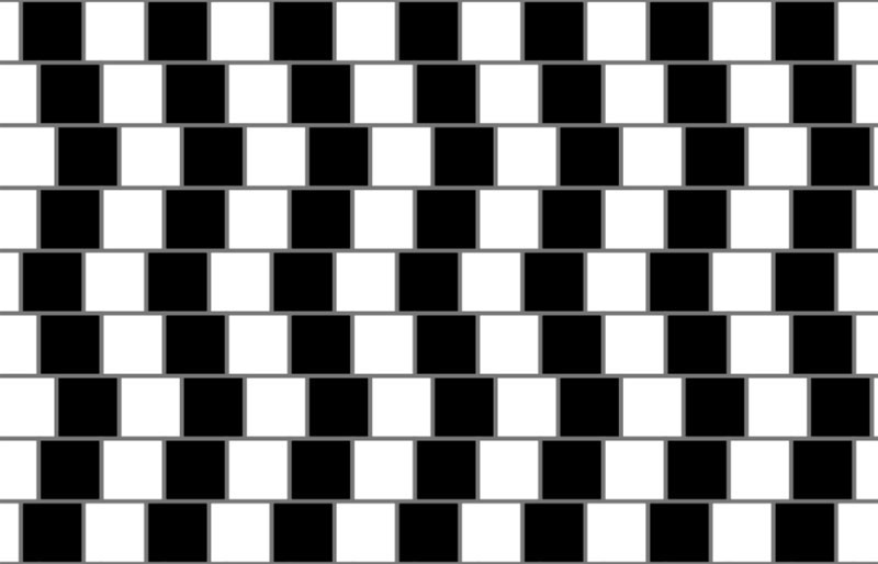 the cafe wall illusion expplained This is the Cafe Wall Illusion