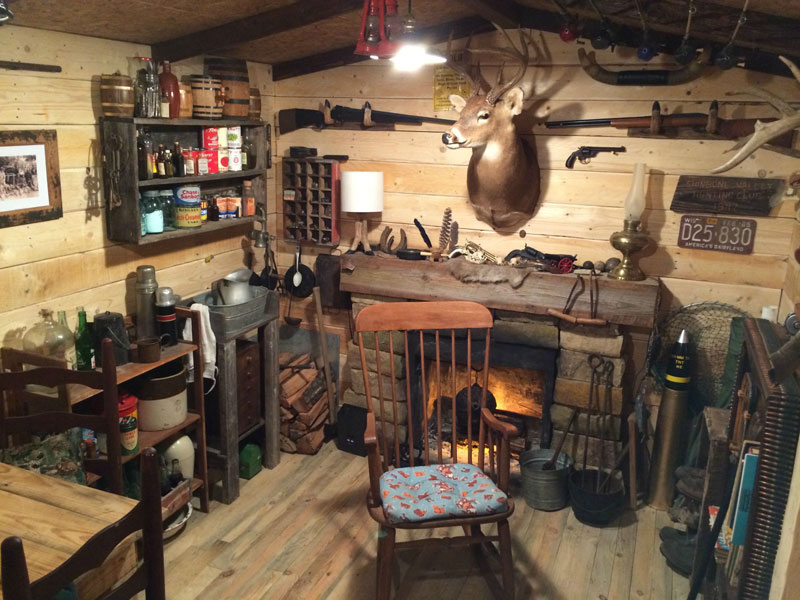 This Guy Built a Rustic Cabin Man Cave for 107 dollars (13)