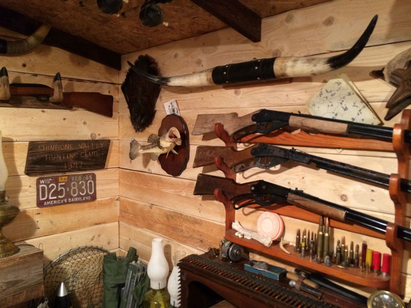 This Guy Built a Rustic Cabin Man Cave for 107 dollars (20)