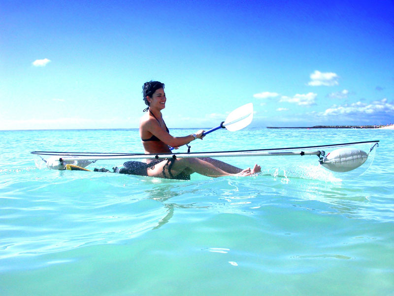transparent kayak by clear blue hawaii Picture of the Day: The Transparent Kayak