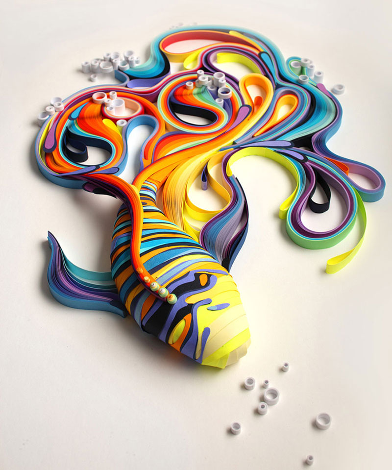 yulia brodskaya rolls strips of paper into works of art (2)