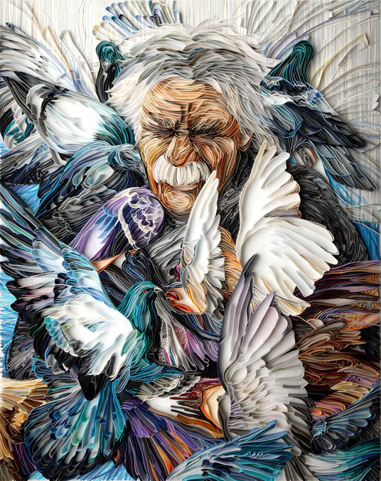 yulia brodskaya rolls strips of paper into works of art (7)