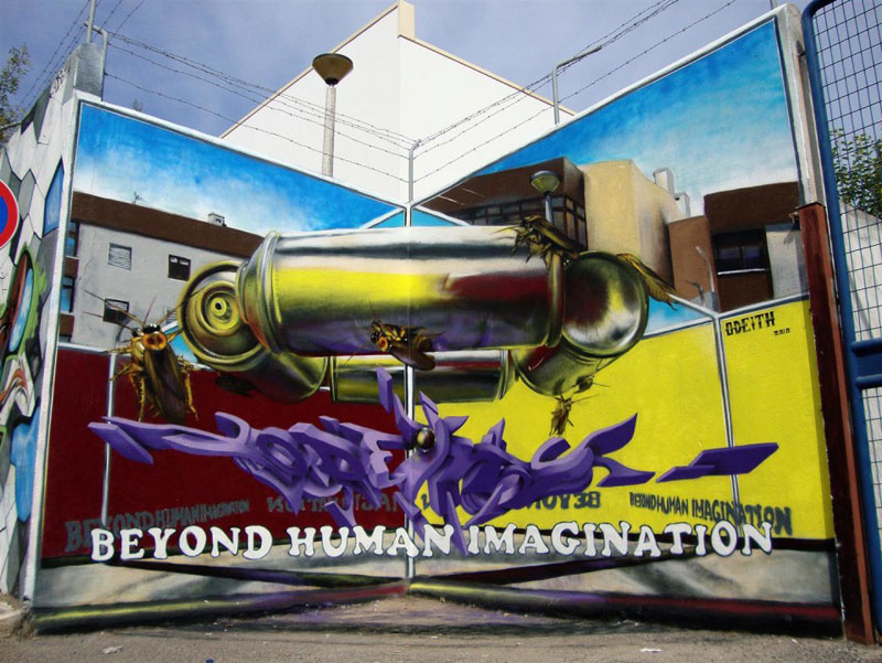 anamorphic graffiti murals that leap off the wall by odeith (5)