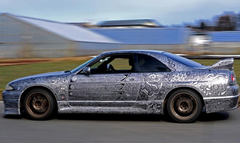 Artist Uses Sharpie to Give Nissan Skyline GTR One of a Kind Paint Job (19)