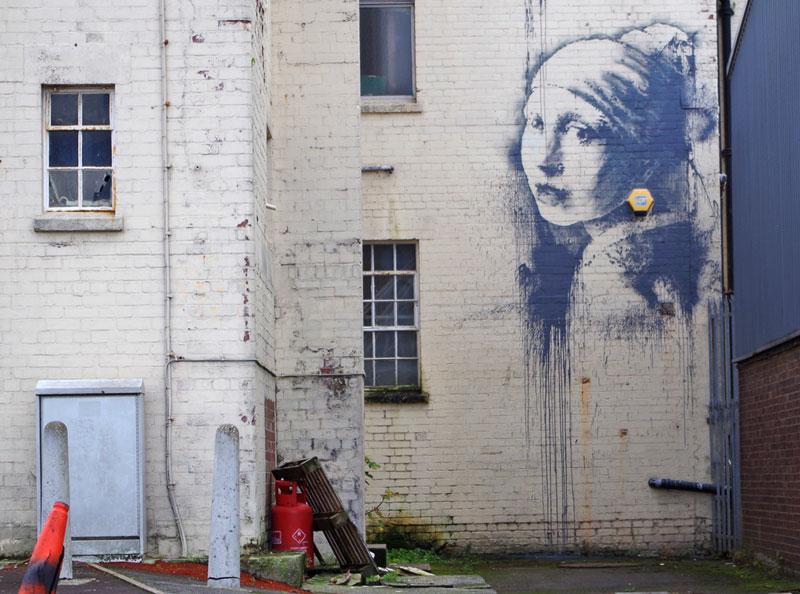 banksy vermeer girl with pierced eardrum (2)