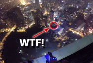 This Guy is About to BASE Jump Into a Rooftop Pool