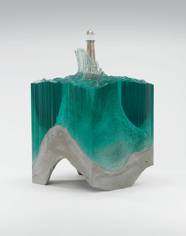 ben young glass wave sculpture 5 Glass Wave Sculptures by Ben Young