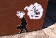 Picture of the Day: Calvin and Hobbes Street Art in Portland