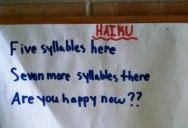 Teacher Asks Students to Write Haikus, This Kid Wins
