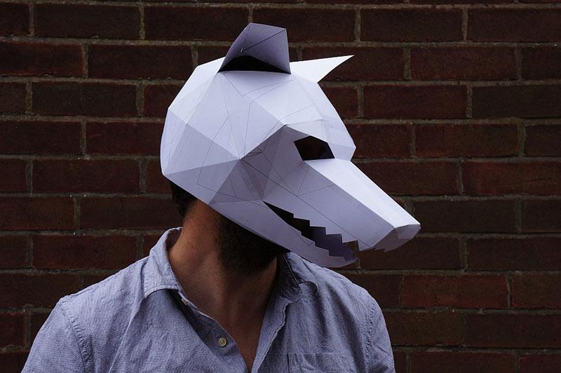 Geometric 3D Paper Masks by Steve Wintercroft (3)