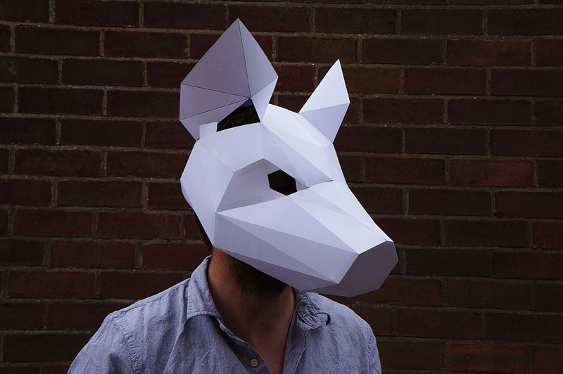 Geometric 3D Paper Masks by Steve Wintercroft (6)