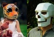 Geometric 3D Paper Masks by Steve Wintercroft