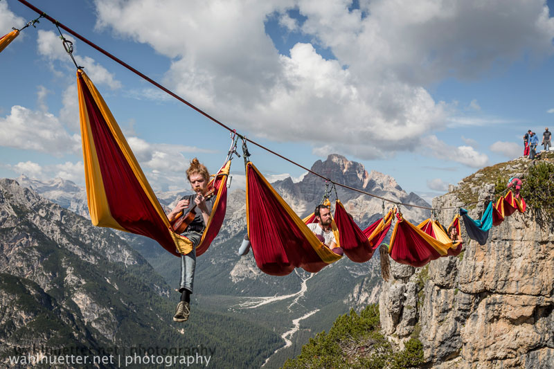 highline hammock session monte piana by sebastian wahlhutter 14 Highline Hammock Session in the Dolomites