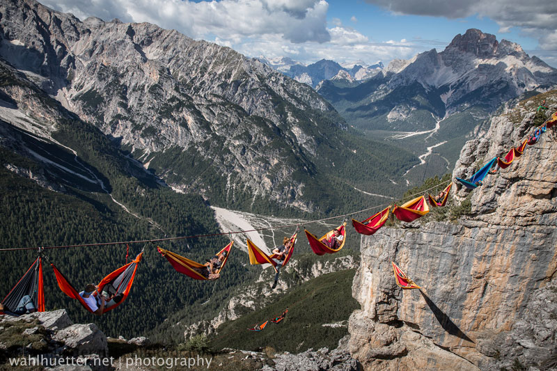 highline hammock session monte piana by sebastian wahlhutter 9 Highline Hammock Session in the Dolomites