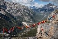 Highline Hammock Session in the Dolomites