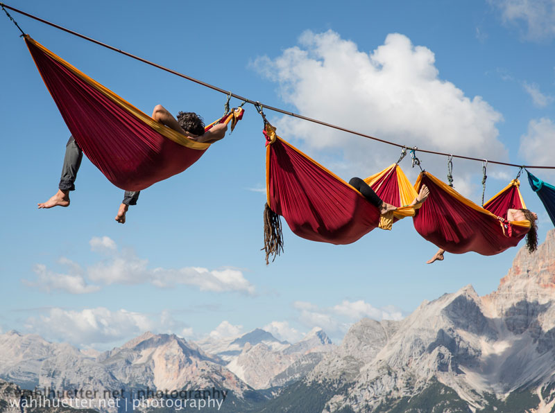 highline hammock session monte piana by sebastian wahlhutter Highline Hammock Session in the Dolomites