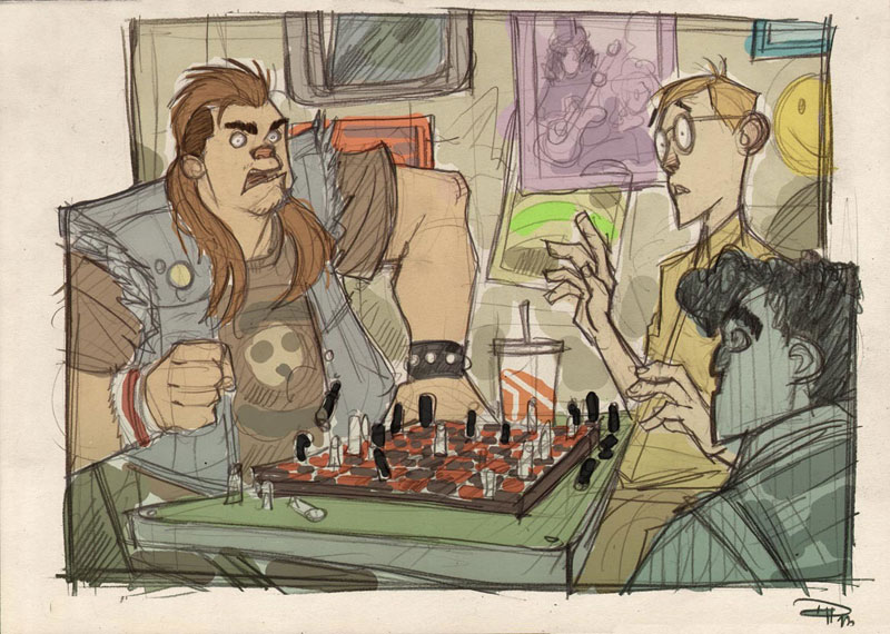 if star wars was set in an 80s high school by denis medri 16 If Star Wars was Set in an 80s High School