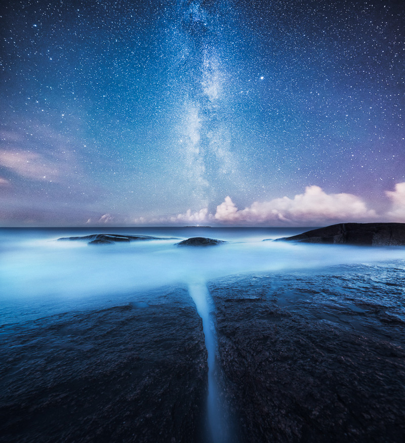 night time photos of finnish landscape by mikko lagerstedt 2 16 Eerie Night Time Photos of Empty LA Freeways