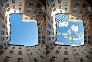 Thomas Lamadieu Takes Photos of the Sky and Draws on Top of It