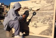 Solar Drawings Made with a Magnifying Glass