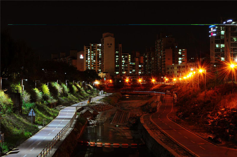 Picture of the Day: One Side of this Street Has LED Lights
